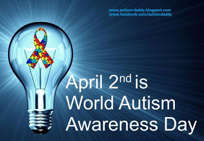 Happy Autism AWARENESS Day!  Yes, that's right I said Awareness!