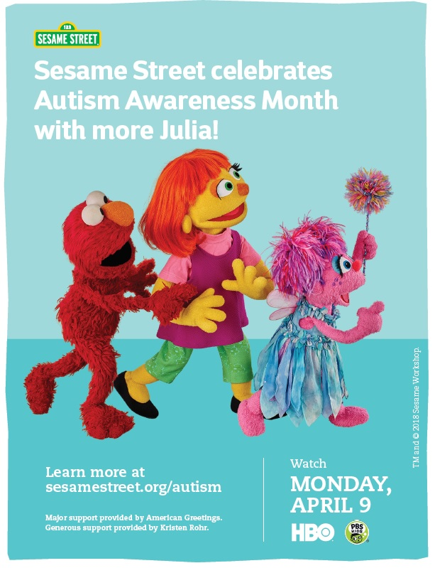 New Autism Julia Content from Sesame Street!