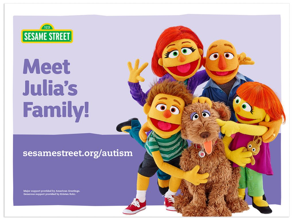More Autism Julia Content from Sesame Street!